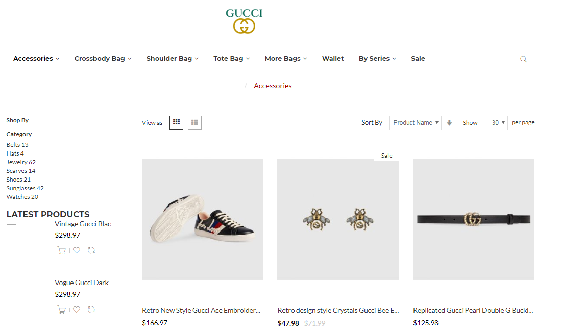 Gucci clone accessories about