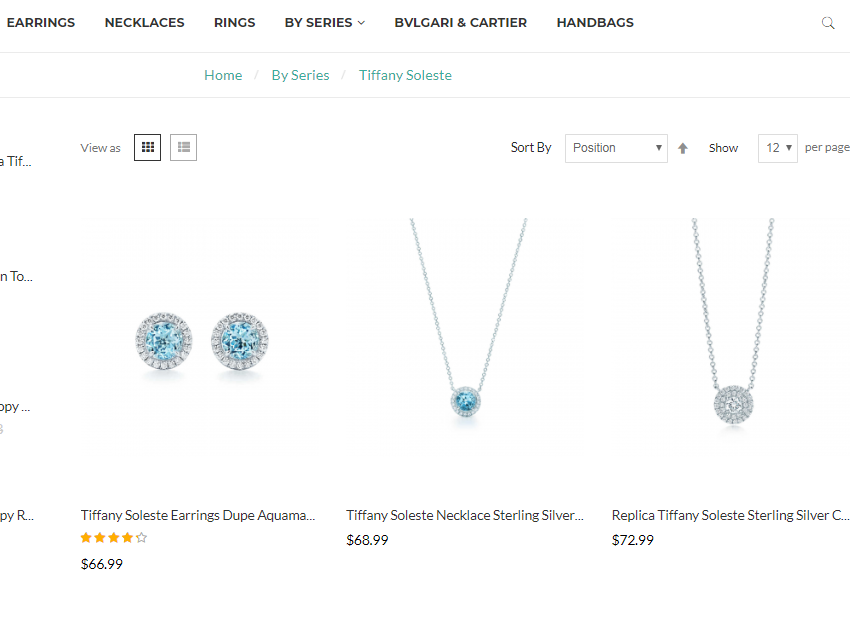 Tiffany Soleste jewelry In USA