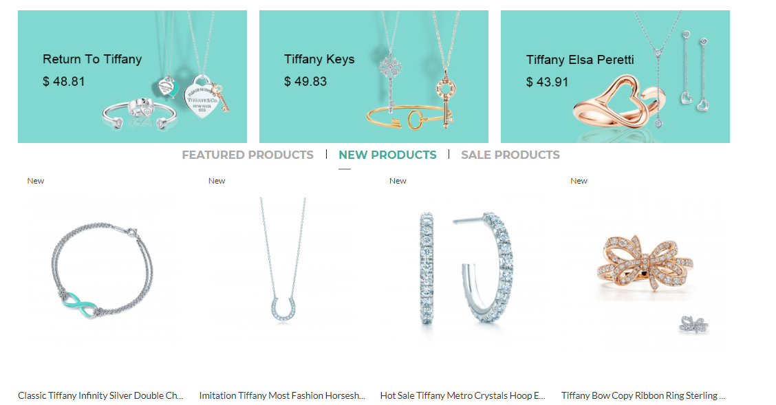 Copy Tiffany jewelry for her